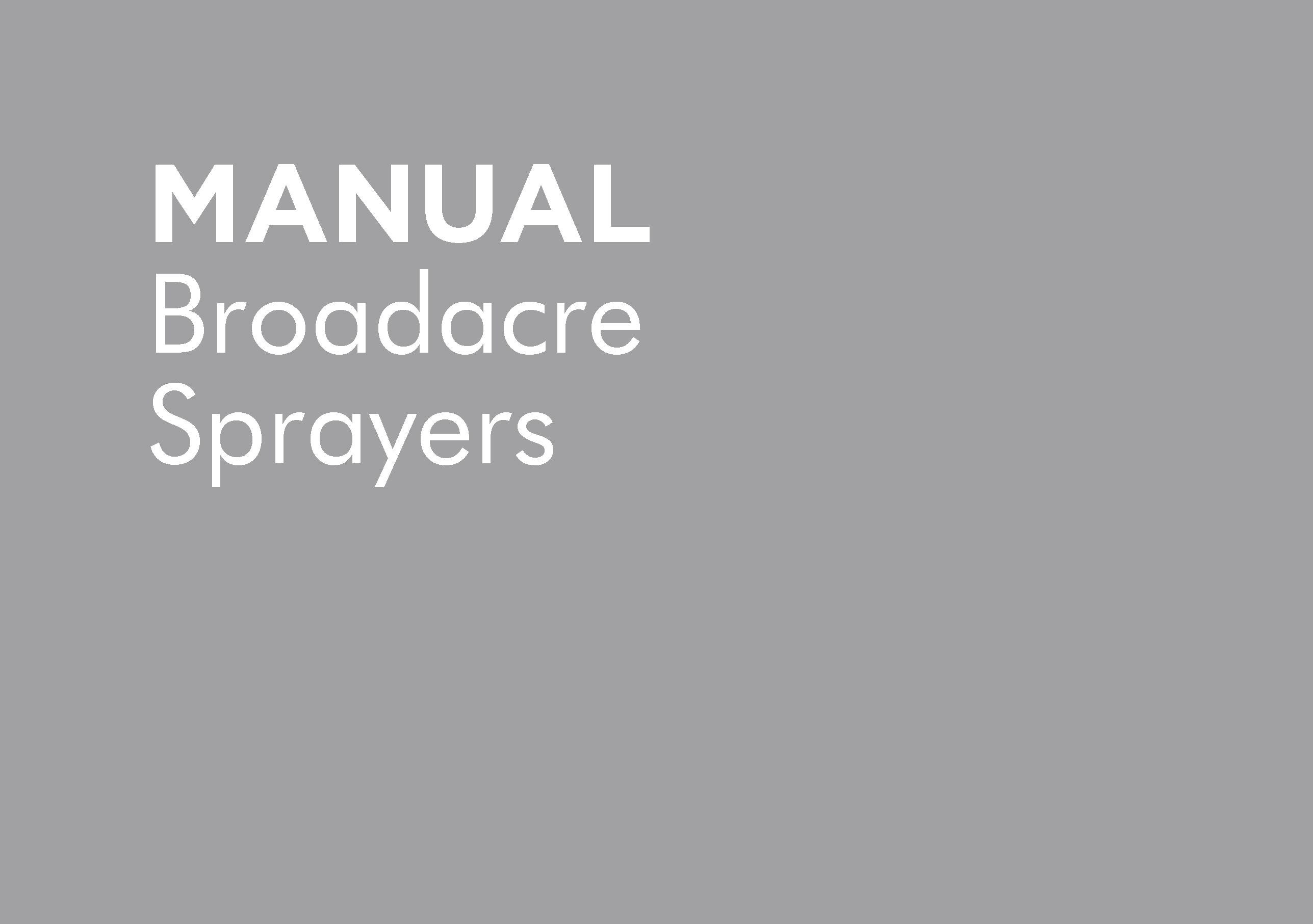 GP-POMBA001108 – SUPPLEMENT BROADACRE SPRAYERS REV4