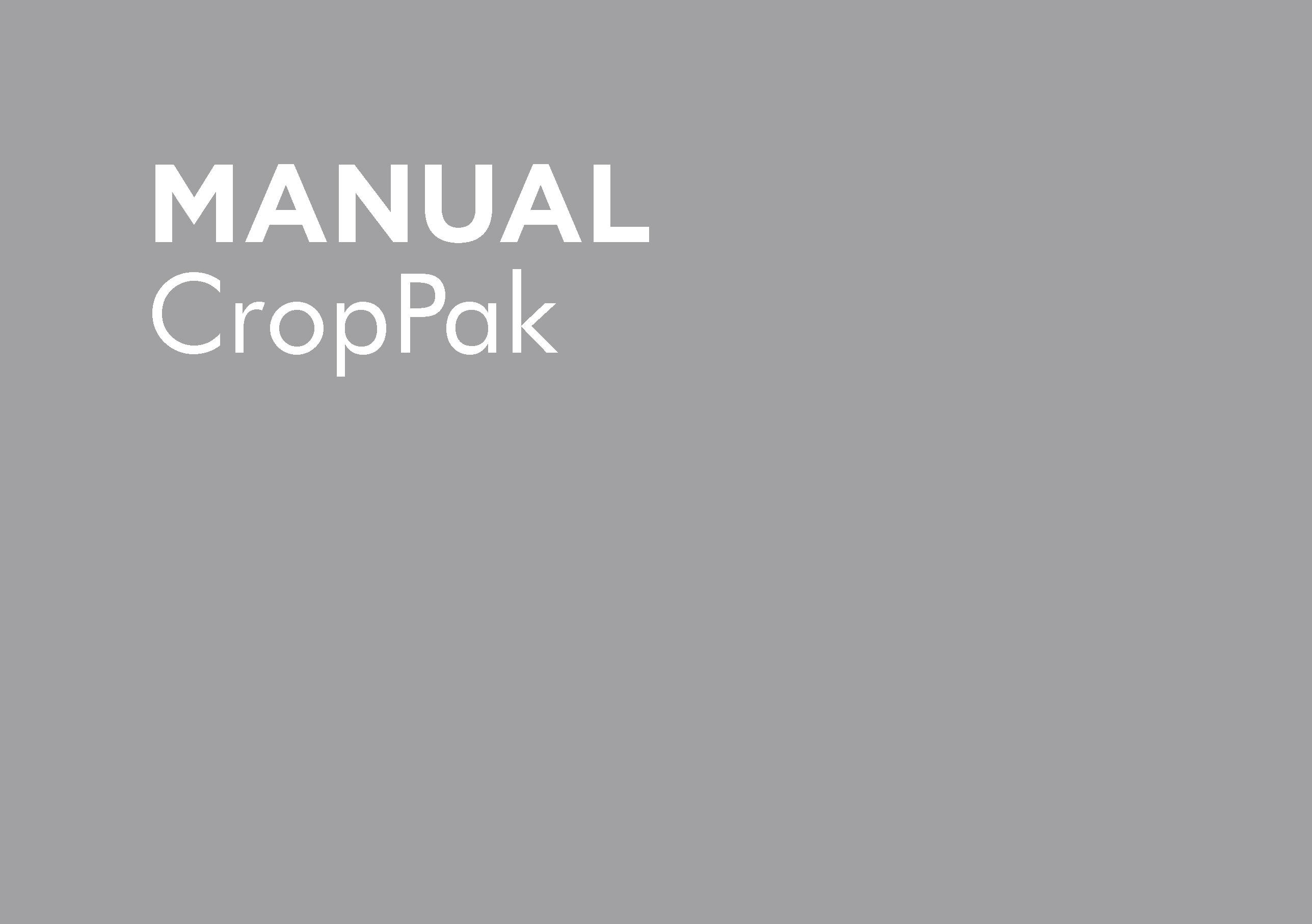 GP-OMCP12-C – CROPPAK OPERATORS MANUAL VC