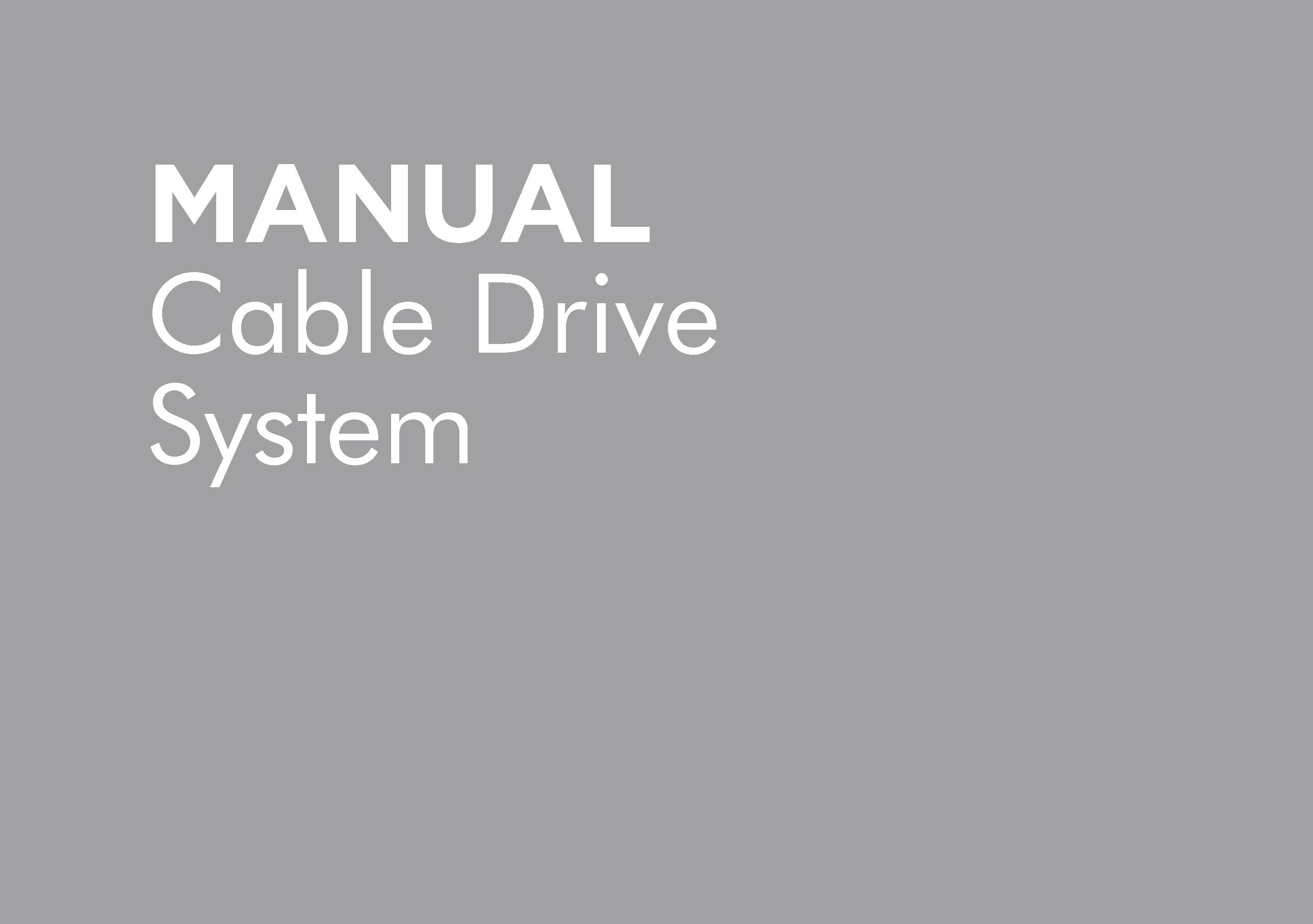 HT-POMCD2012A – CABLE DRIVE SYSTEM