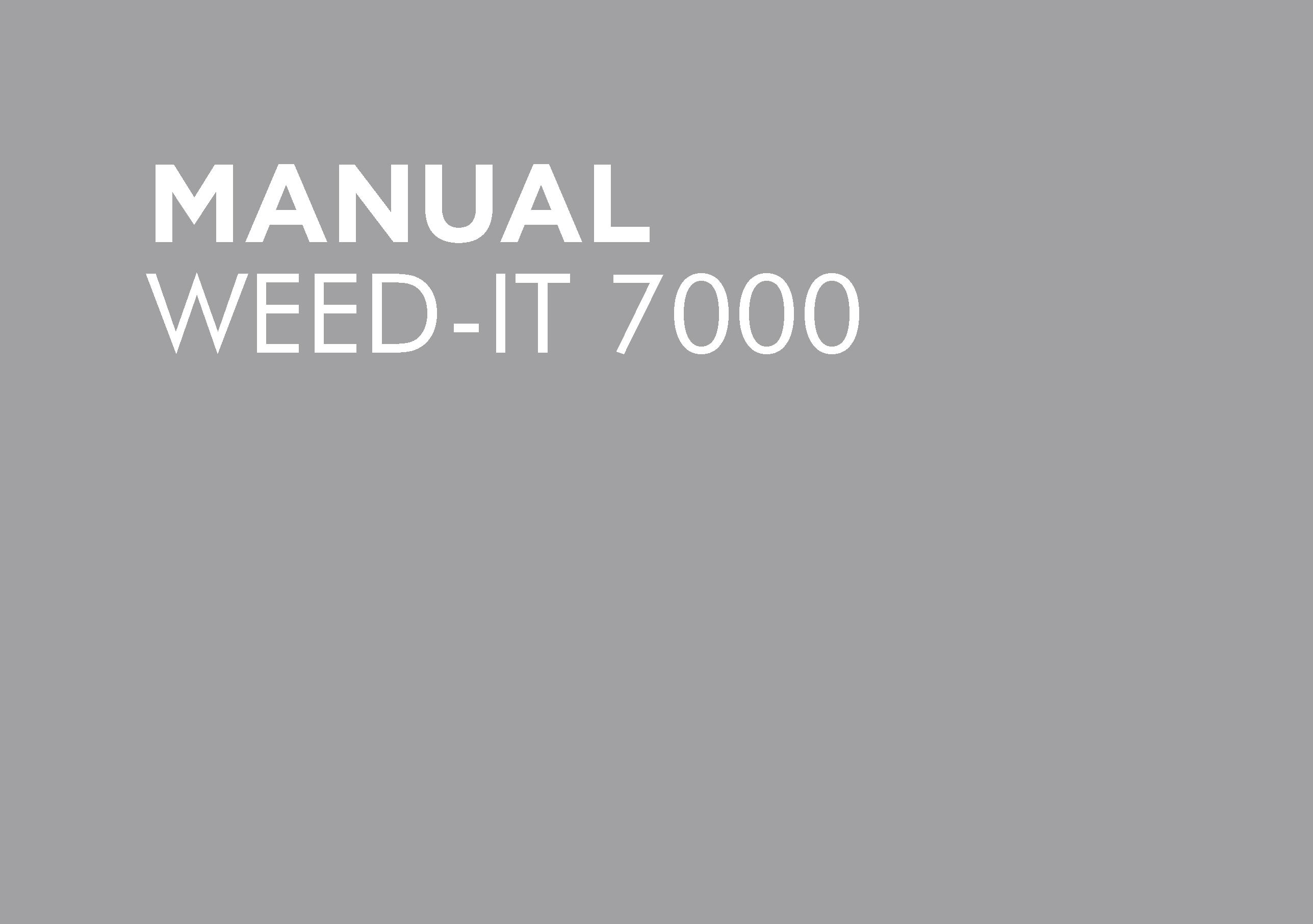 BT-OMWEEDD-A – WEEDIT 7000