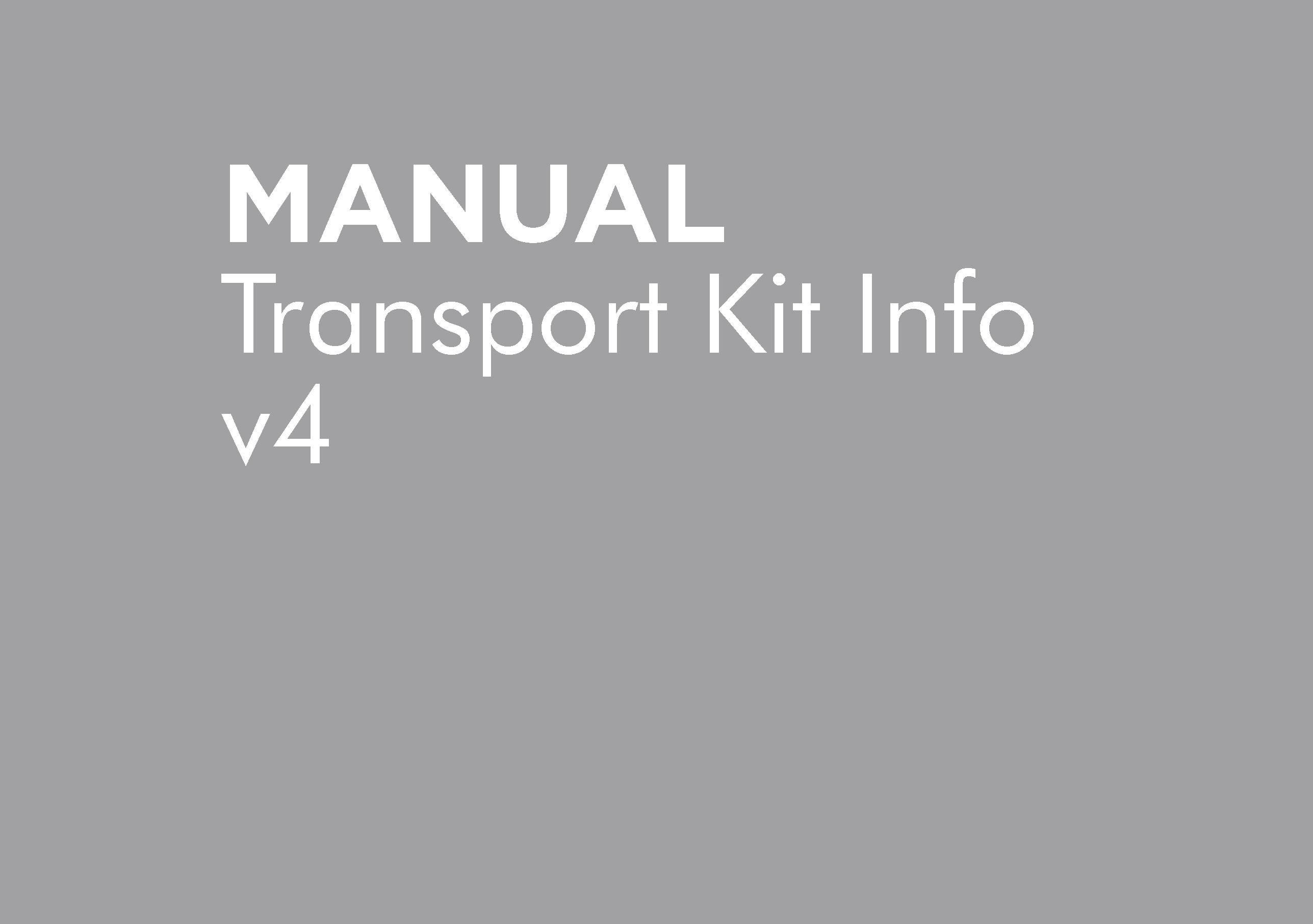BT-OMWEED-MP375 – WEEDIT TRANSPORT KIT INFO V4