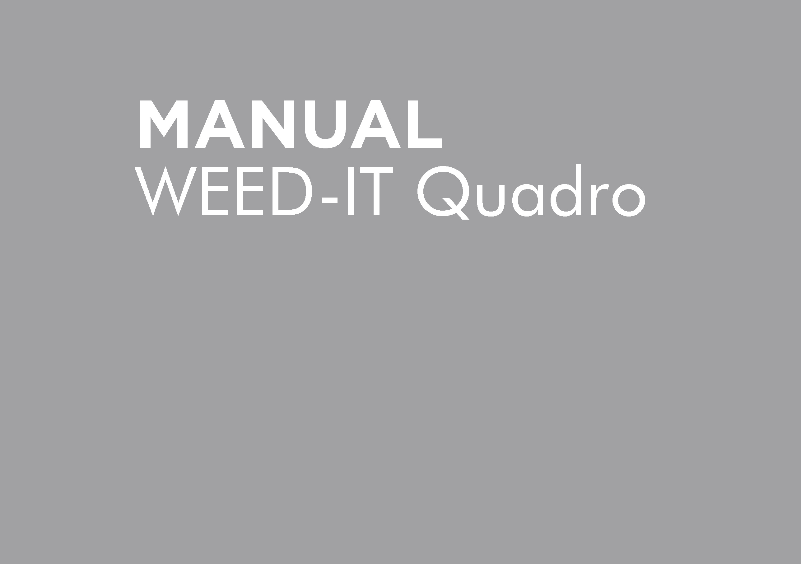 BT-PMWEEDQ-B – WEEDIT QUADRO PARTS MANUAL
