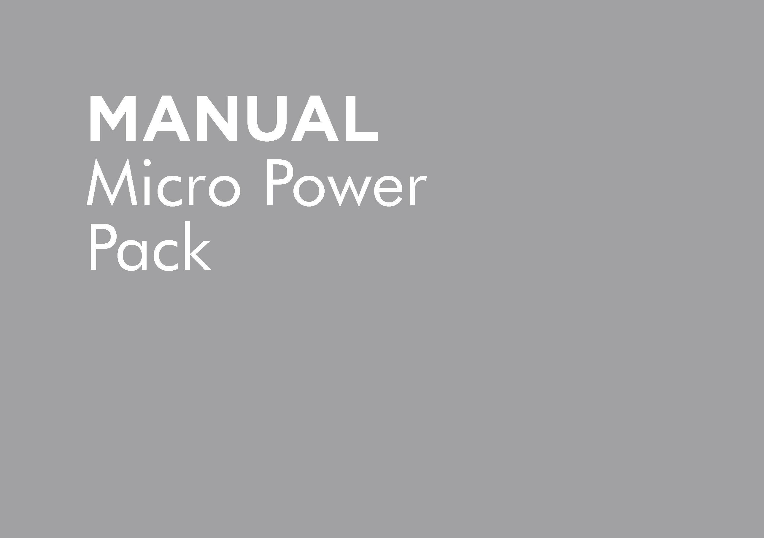 HT-OMMICRO-B – MICRO POWER PACK MANUAL VERSION B